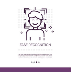 Face recognition biometric security system web vector