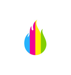 fire paint logo icon design vector image
