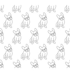French bulldog on white background vector