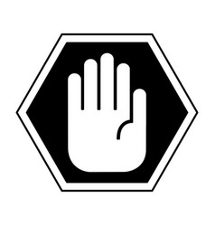 Hand stop isolated icon vector