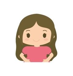 Happy girl character avatar vector
