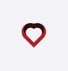 heart symbol stylized design element vector image