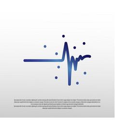 Heartbeat pulse logo concept healthcare vector