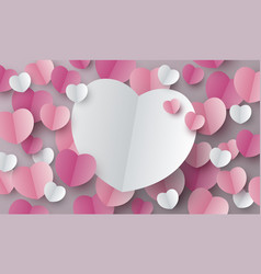 hearts background design vector image