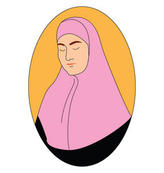 hijab on white background vector image