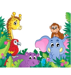 Image with jungle theme 8 vector