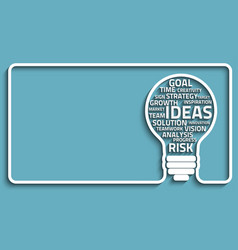 Innovate bulb concept vector