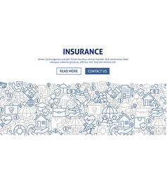 insurance banner design vector image