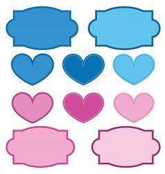 Labels and Hearts vector