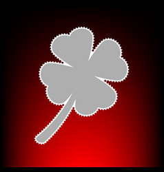 leaf clover style vector image