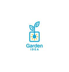 Light bulb leaf garden plant innovation pot logo vector
