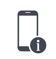 mobile phone icon with information sign vector image