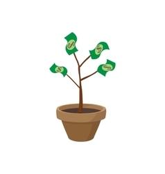 Money tree icon cartoon style vector image