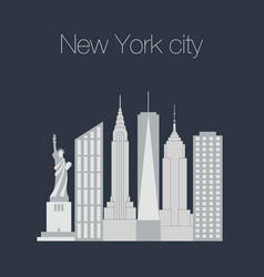 New york famous icons vector