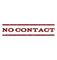 No Contact Watermark Stamp vector