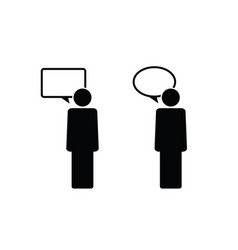 People icon with speech bubble vector