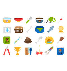 pets related icons set vector image