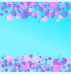 Pink purple blue watercolor drops on the vector