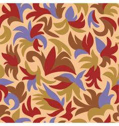 retro floral pattern vector image