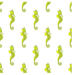 Sea horse seamless pattern vector