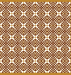 seamless golden lace brown-white lace background vector image