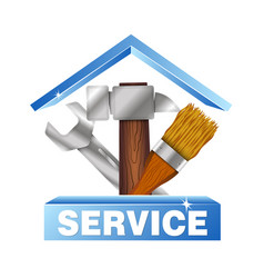 service house symbol for business vector image