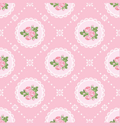 shabby chic rose seamless pattern background vector image