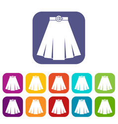 Skirt icons set vector
