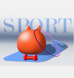 sport equipment fitness goods gray vector image