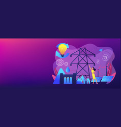 sustainable energy concept banner header vector image