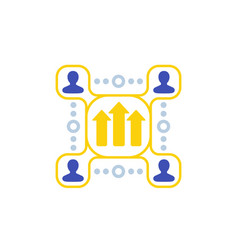 team growth and development icon vector image