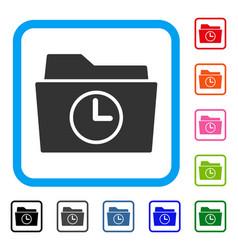 Temporary folder framed icon vector