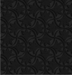 Textured black plastic floral pin will vector
