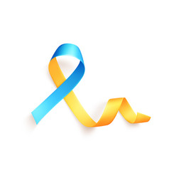The yellow-blue ribbon is a symbol movement vector