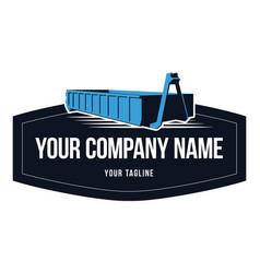 Trace bin emblem logo corporate vector