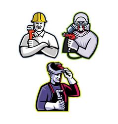 tradesman mascot collection vector image
