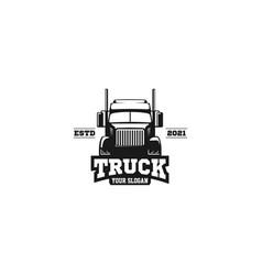 truck emblem logo vector image