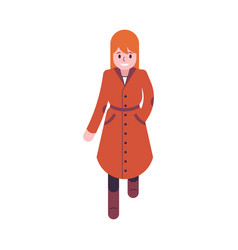 woman in orange and brown vector image