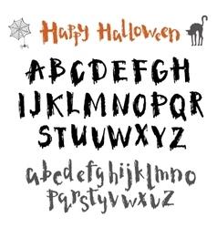 Written in ink alphabet vector