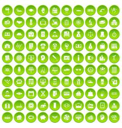 100 loans icons set green circle vector