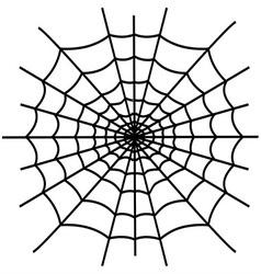 Black spiderweb isolated vector image
