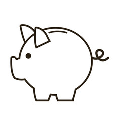 business piggy bank money safety vector image vector image