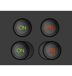buttons with ON and OFF text vector image