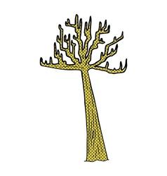 comic cartoon winter tree vector image