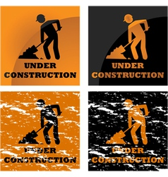 Construction signs vector image