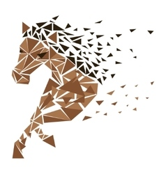 Galloping horse particles vector image vector image