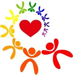 gay love vector image vector image