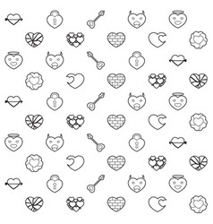 heart and love pattern vector image vector image