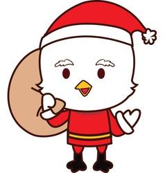Little Chicken Santa vector image vector image