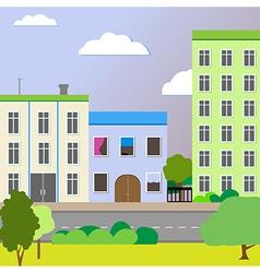 Sleek design a city street vector image vector image